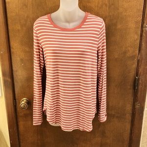 Old Navy striped Luxe long sleeve tee. Size medium